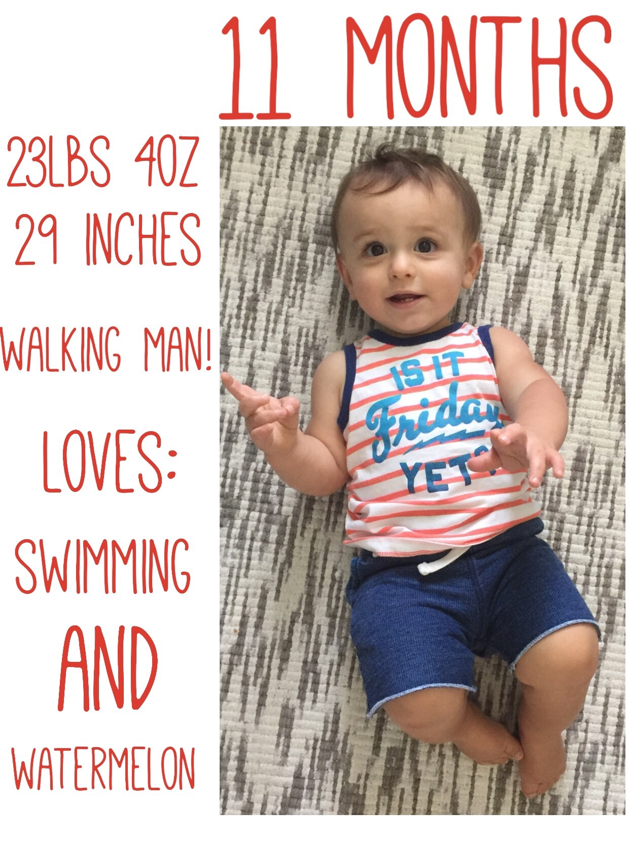 Check out bs final stats before for his first birthday